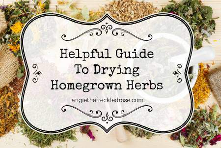 dry homegrown herbs