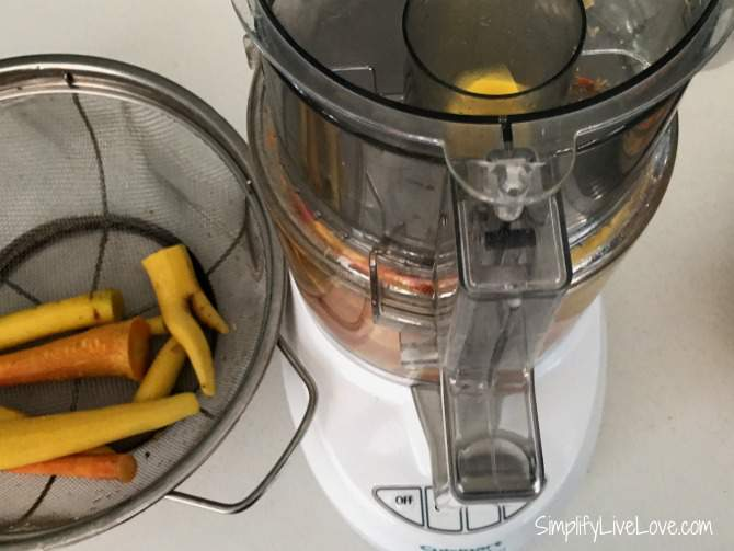 slice carrots quickly and easily with a food processor