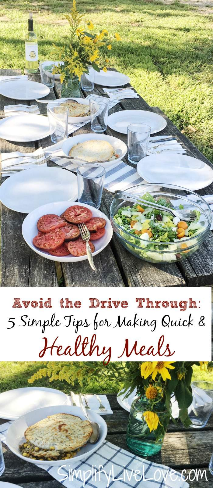 If busy nights mean you're grabbing drive-through take out instead of eating healthy meals, you will want to read these 5 tips! They will help you put healthy meals on the table even on the busiest of nights. AD @BlakesNatural