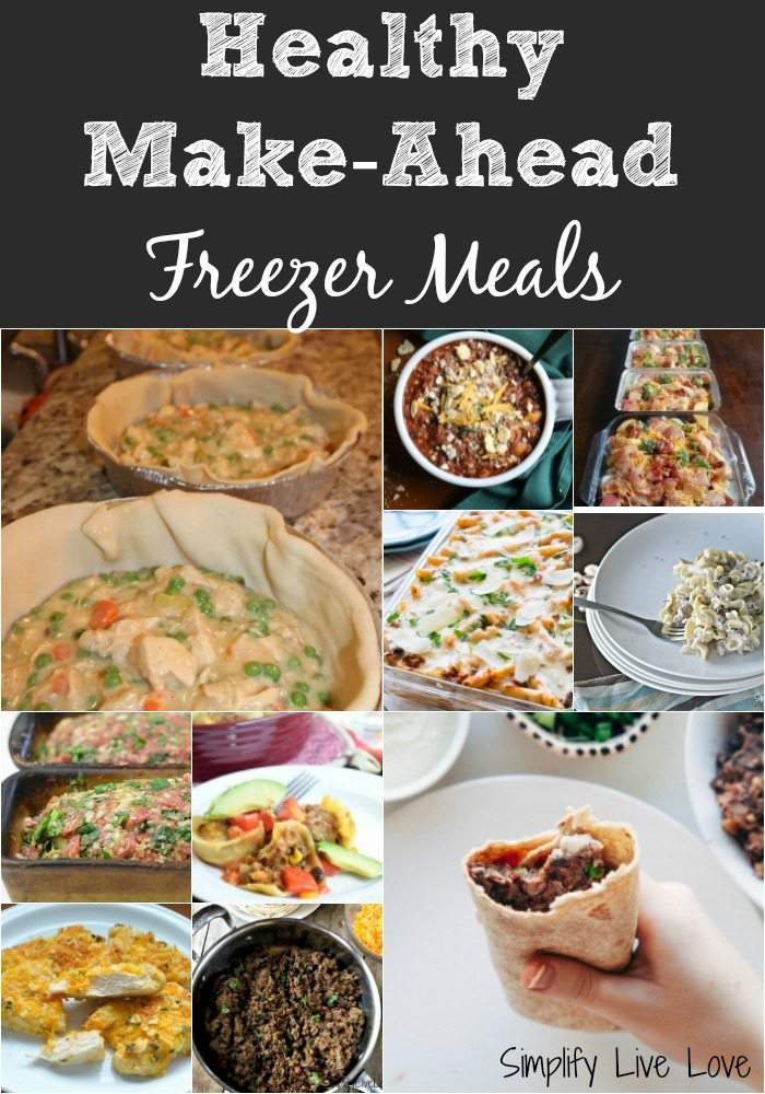 Healthy make-ahead freezer meals