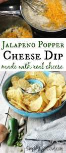 Japlapeno Popper cheese dip! Delicious appetizer, quick to make, and it even uses real ingredients!