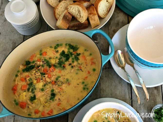 Cream Chicken Stew - immune boosting soup.