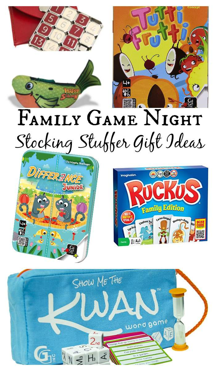 Family Game Night Stocking Stuffers Gift Guide