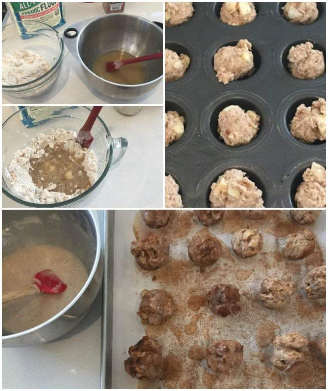 Apple Fritter Cookie Bite baking collage