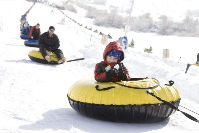 tubing in Heber Valley. Utah