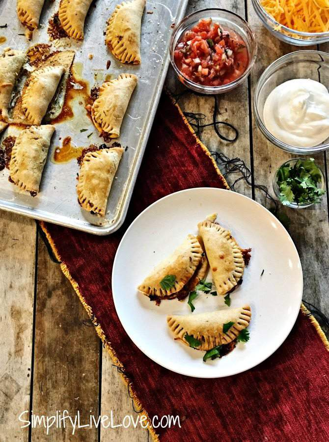 Freezer Friendly Baked Taco Empanadas from scratch