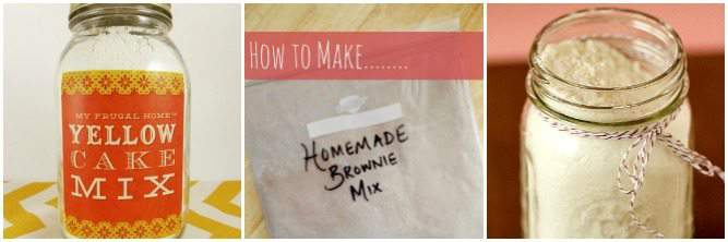 Homemade Baking Mixes for Dessert