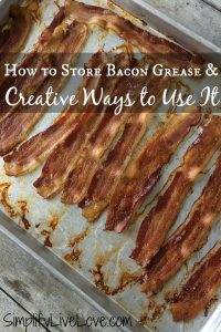 How to store bacon grease