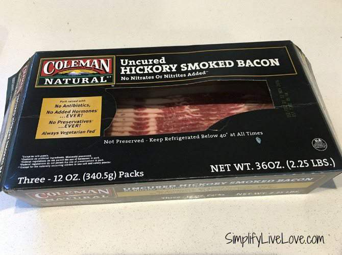 coleman natural uncured hickory smoked bacon