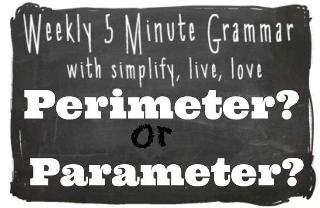 Perimeter or Parameter 5 Minute Grammar Lesson