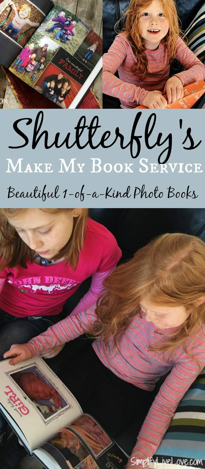 Shutterfly's Make My Book Service. Beautiful, one of a kind photo books. Easy and quick - perfect to commemorate special occasions and fun trips.