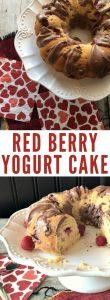 red berry yogurt cake
