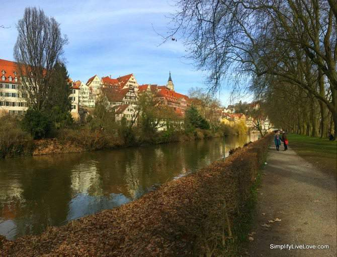 A walk on the Neckar Insel (Neckar Island) in Tubingen Germany