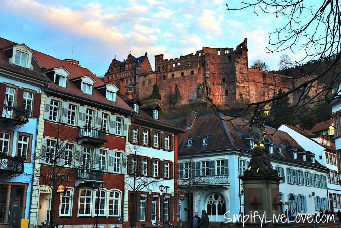Heidelberg Castle from the Marktplatz