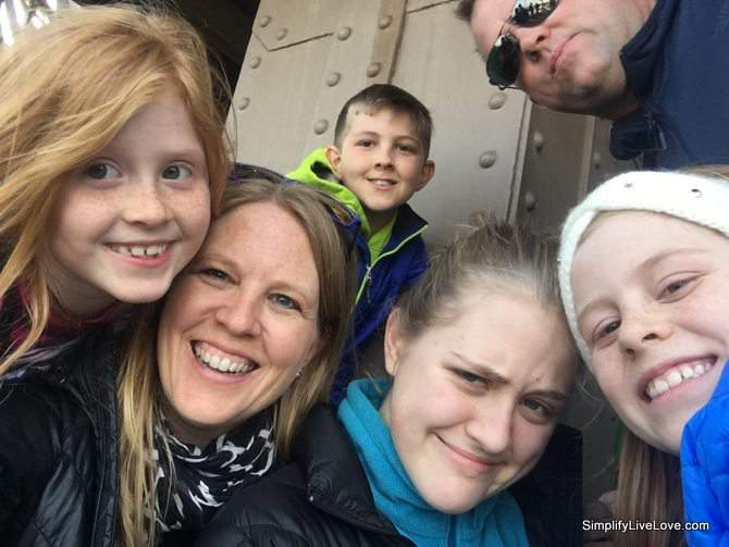 Family selfie at the Eiffel Tower