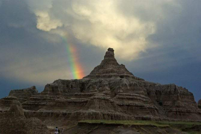 Badlands National Park South Dakota rainbow
