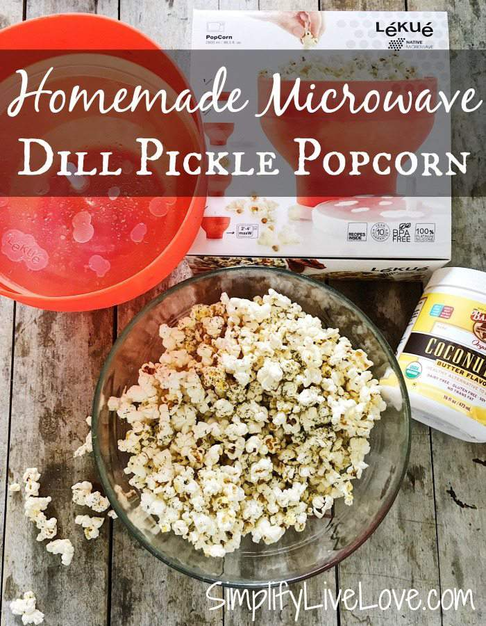 Homemade Microwave Dill Pickle Popcorn Recipe