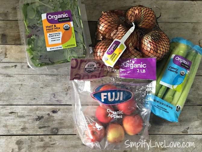 organic produce at Walmart