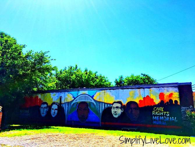 Civil Rights Memorial Mural in Selma
