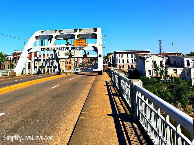 Edmund Pettus Bridge in Selma Alabama