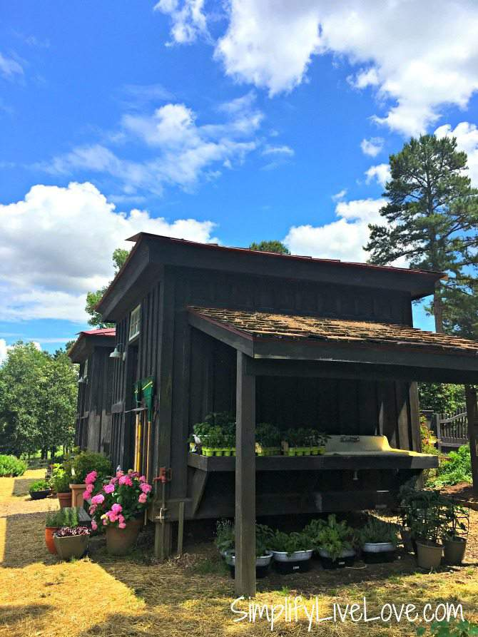 Garden Shed and Potting Sink at Moss Mountain Farm
