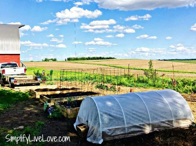 how to cover a raised garden bed