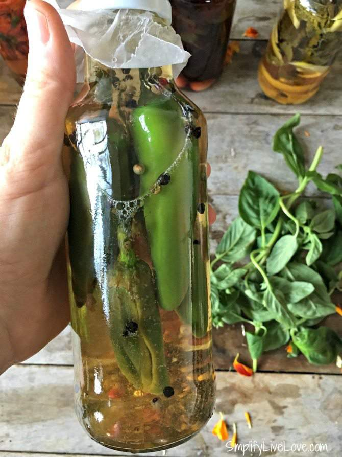 homemade Gourmet Hot Pepper Vinegar