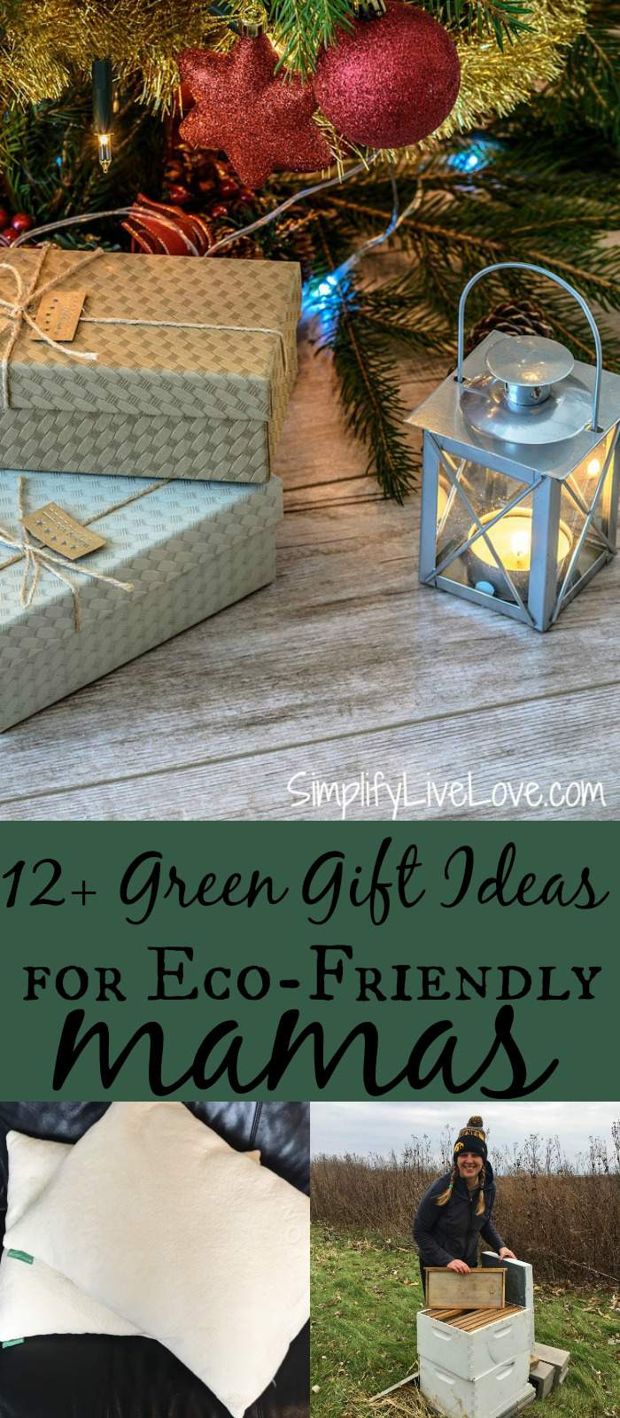 Do you consider yourself a crunchy mom or know someone who is? Here are 12+ green gift ideas for eco-friendly mamas to feel good about giving OR receiving! #greeneverywhere