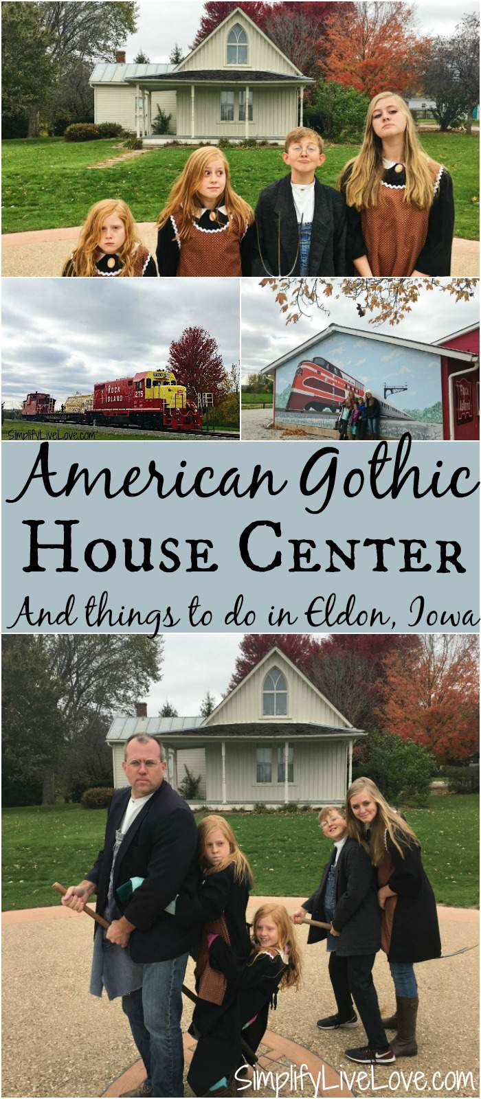 American Gothic House Center and fun things to do in Eldon, Iowa (located in SE Iowa USA). Eldon is a fun place for a weekend road trip!
