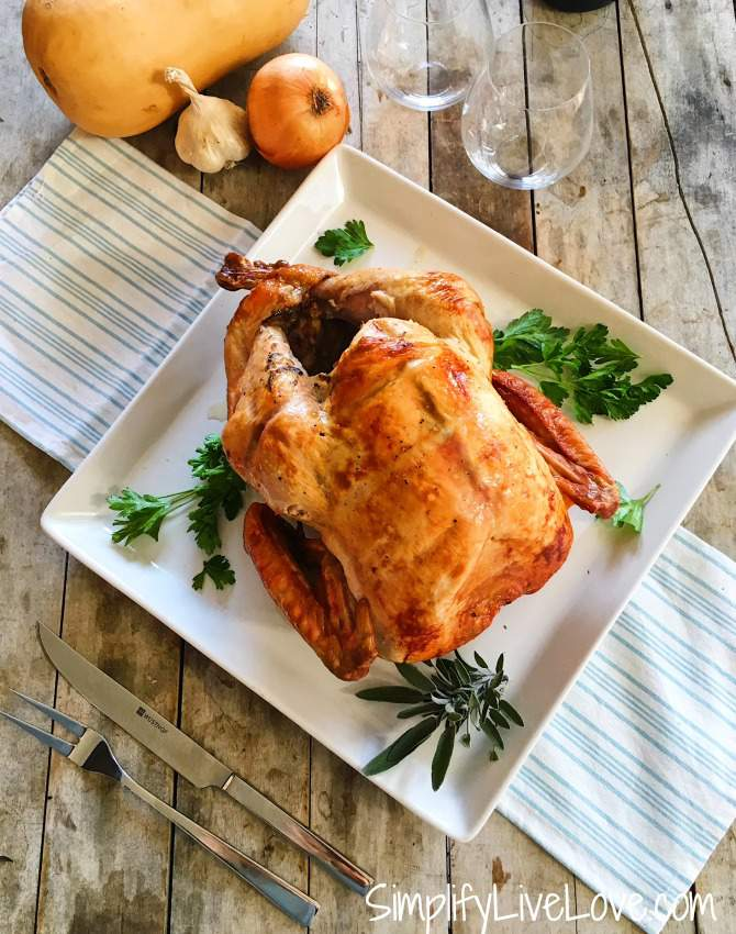 Toss out everything you may have heard about cooking a turkey. The best way to cook a turkey is to use high heat, cook it upside down, and skip the basting! Learn how here.