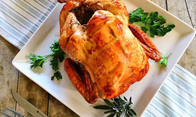Best Way to Cook a Turkey – upside down, high heat, no basting!