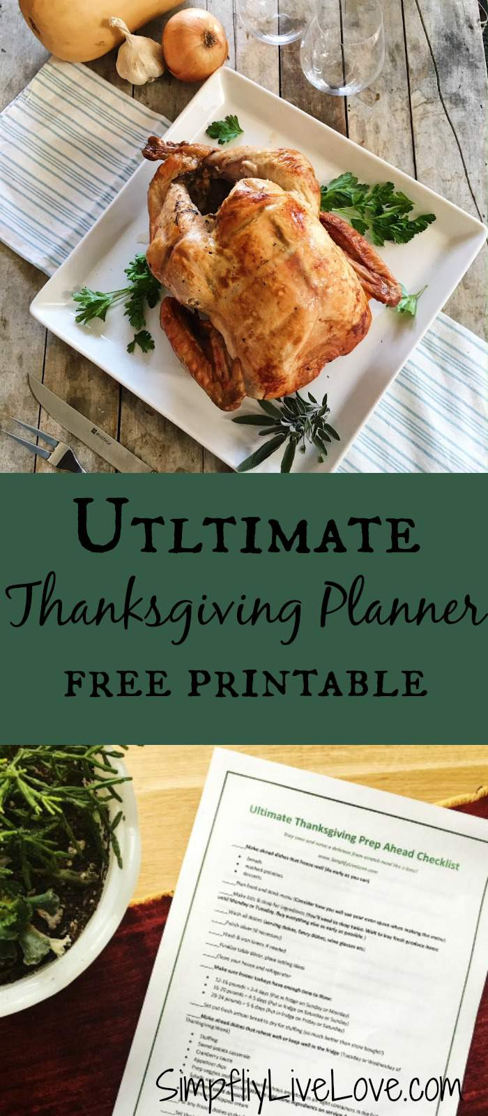Don't make mistakes this Thanksgiving. Keep Organized with this handy free printable Thanksgiving Planner!