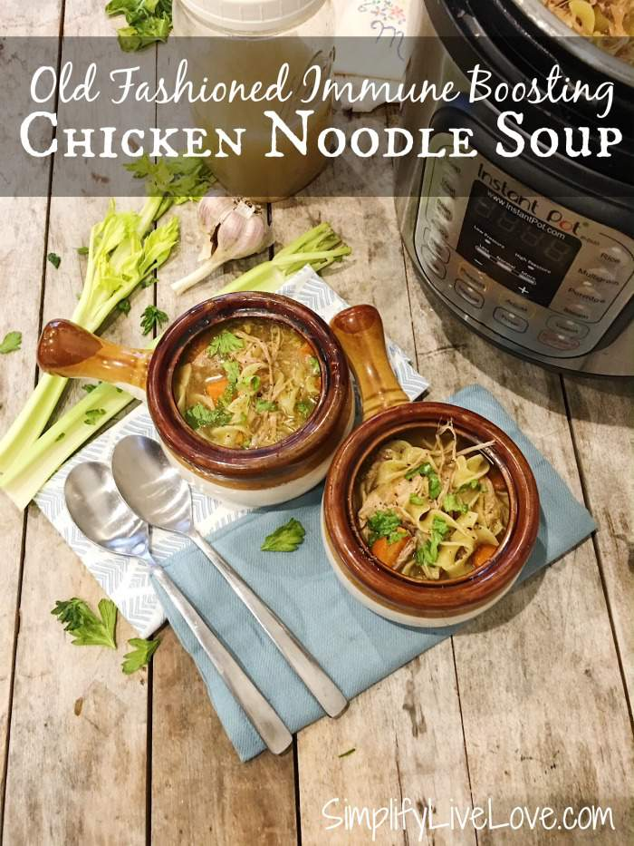 Old Fashioned Chicken Noodle Soup Instant Pot Recipe #instantpot