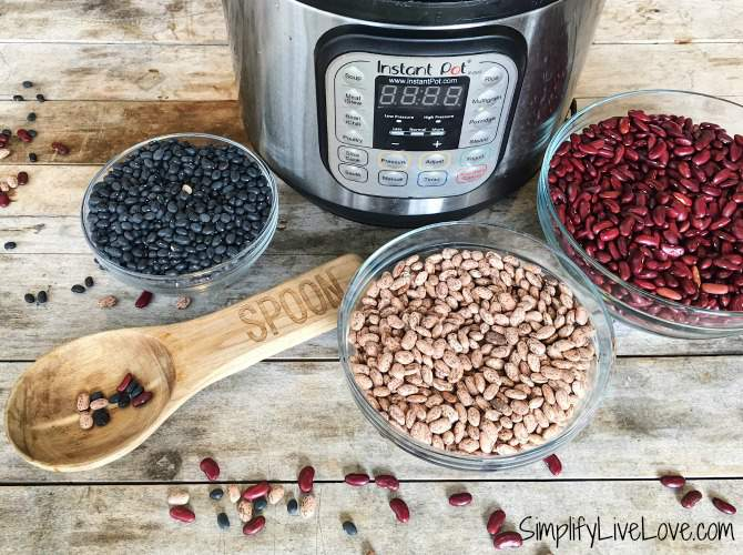 how to cook soaked or unsoaked dried beans in the instant pot