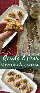 Looking for pear appetizer recipes? Try this quick and easy pear crostini appetizer. On the table in 10 minutes, it's as easy as it is delicious!