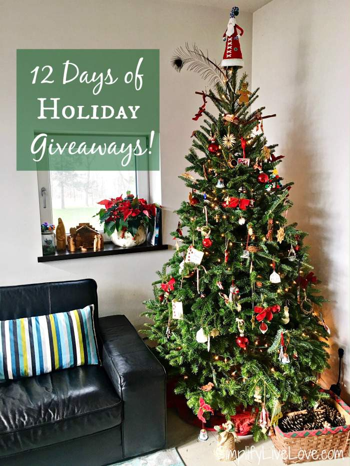 12 Days of Holiday Giveaways at SimplifyLiveLove!