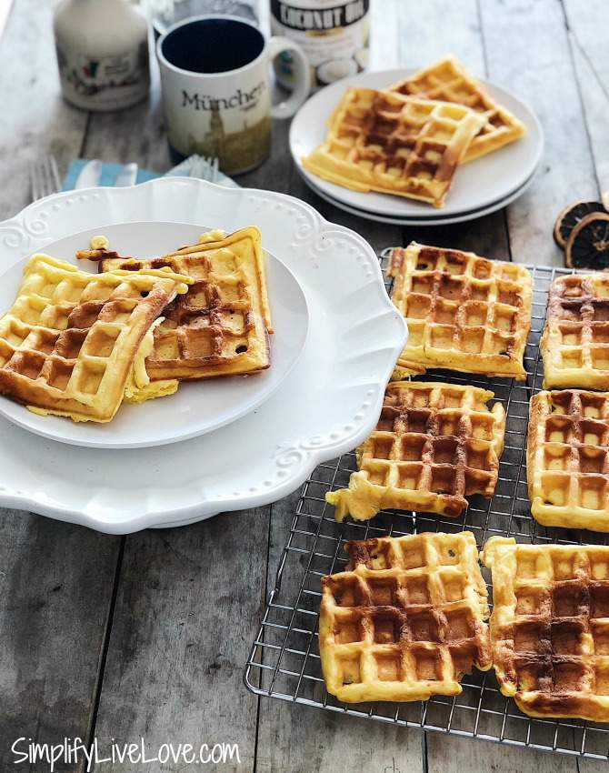 Freezer Friendly Leftover Eggnog Waffles + Healthy Breakfast Recipes