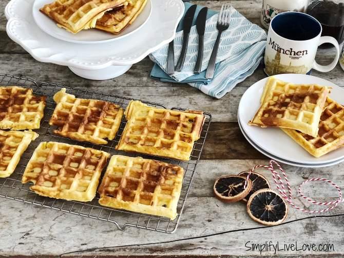 Freezer Friendly Leftover Eggnog Waffles