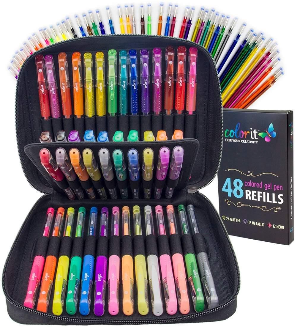 color it gel pens