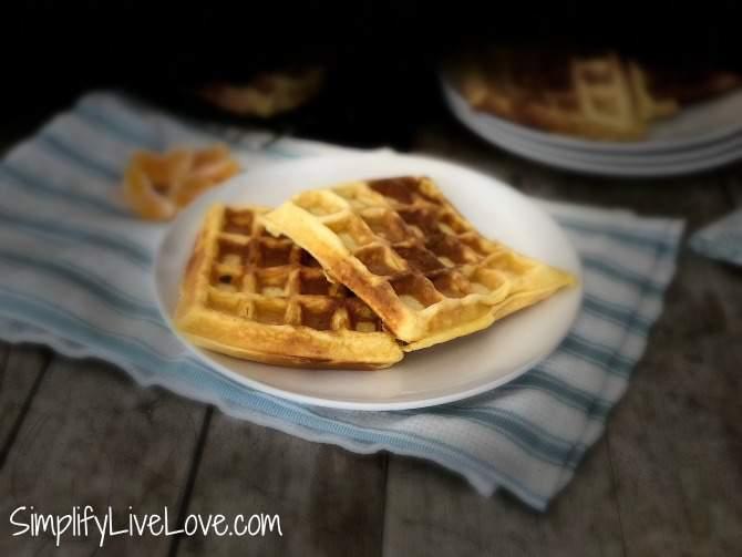 leftover eggnog freezer waffles