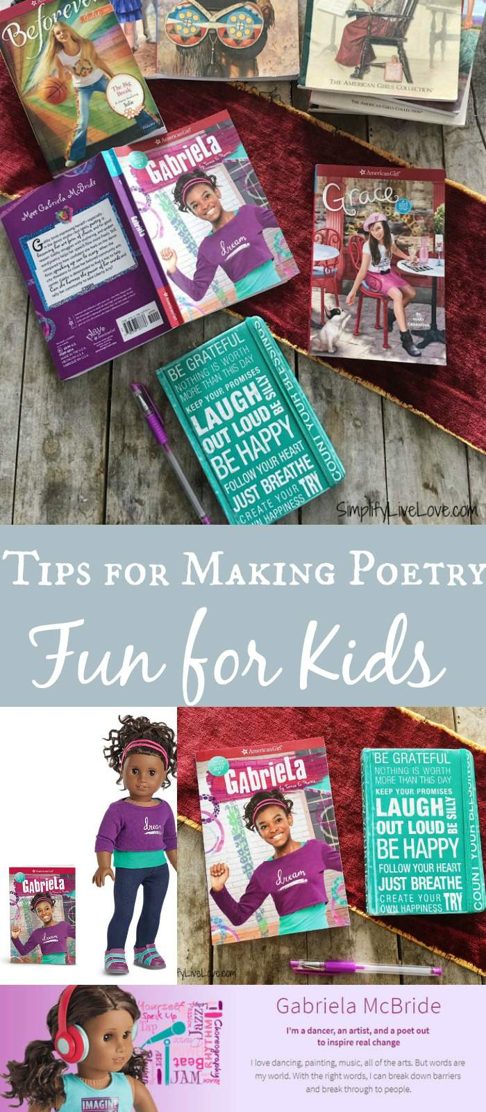 Want to make poetry fun for kids? Here's why you should teach your children poetry and 7 practical ways you can help your children have fun learning poetry! Plus there's a giveaway for Girl of the Year 2017, Gabriela McBride!