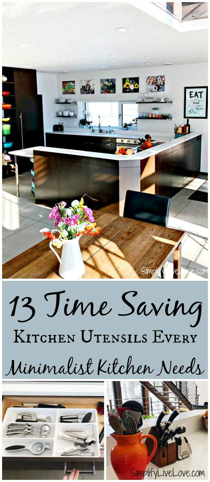 A minimalist kitchen can help you save money and time, not just on cooking, but also on cleaning because you just have fewer things! Here are the time saving kitchen gadgets that are must haves for quick, healthy, from scratch cooking in my minimalist kitchen.