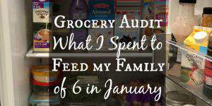 January Grocery Audit – What I Spend to Feed My Family of 6