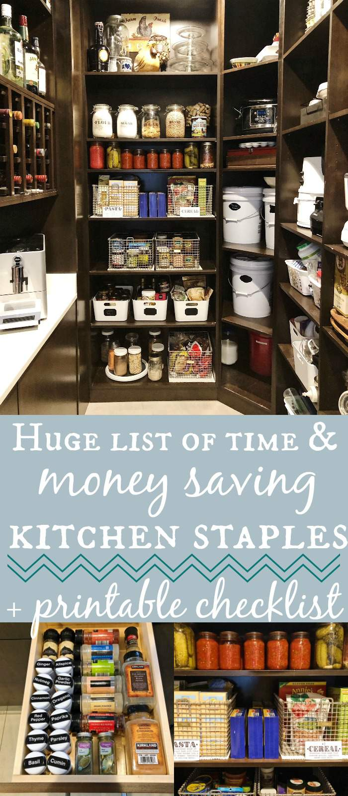 Time & Money Saving Kitchen Staples for Your Pantry, Fridge & Freezer