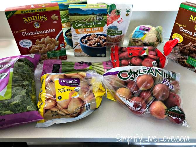 Organic groceries from Walmart grocery haul