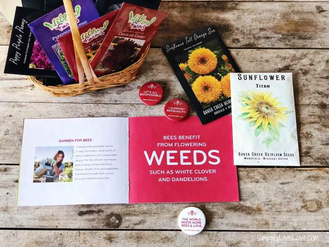 Seed packets of sunflowers and other flowers to help save the bees as part of the #Beesponsible Don't Kill My Buzz campaign