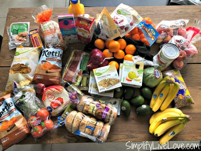 family of 6 grocery budget aldi grocery haul