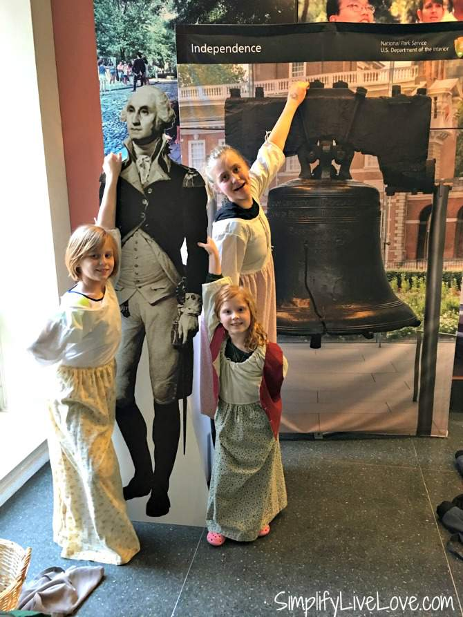 dress up in Independence Visitor's Center