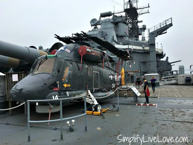 helicopter on the Battleship New Jersey