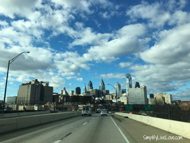 Philadelphia skyline from the interstate